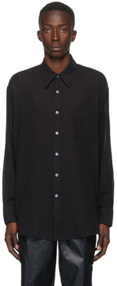 Our Legacy Black Sheer Less Borrowed Shirt