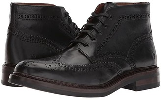 Frye Graham Brogue Chukka (Black Pull Up Leather) Men's Lace Up Wing Tip Shoes