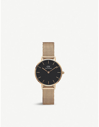Daniel Wellington Petite Melrose rose gold-plated watch 28mm