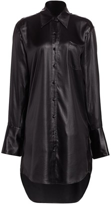 Alexander Wang Wet Shine Oversized Shirtdress