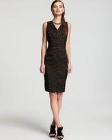 Anne Klein Dress Leopard Print Sheath Dress