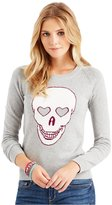 Aeropostale Womens Heart Skull Knit Sweater S