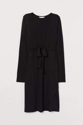 H&M MAMA Wrap Dress - Black