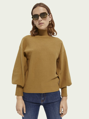 Scotch & Soda Cotton high-neck sweater | Women
