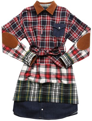 DSQUARED2 Plaid Flannel & Denim Shirt Dress