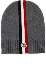 Moncler Logo Striped Virgin Wool Beanie