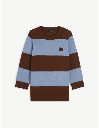 Acne Studios Niamh striped wool-knit jumper 3-10 years