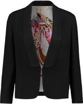 Emilio Pucci Faille-trimmed crepe blazer
