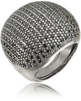Azhar Large Cubic Zirconia Sterling Silver Cocktail Ring