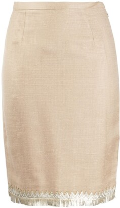Valentino Pre-Owned 1980s Fitted Skirt
