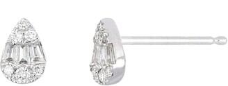 Bony Levy Gatsby Pear Shape Diamond Stud Earrings
