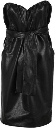 MSGM Faux Leather Belted Dress