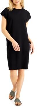 Eileen Fisher Relaxed Cap-Sleeve Dress
