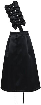 Noir Kei Ninomiya Satin Midi Skirt W/ Bow Suspender