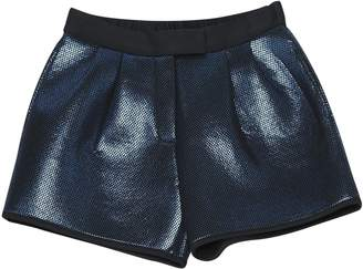 Space Style Concept Blue Polyester Shorts
