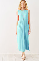 J. Jill Empire-Waist Knit Maxi Dress