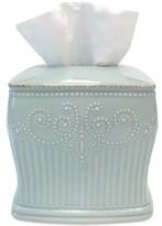 Lenox French Perle Groove Tissue Holder