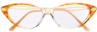 Emanuel Ungaro Pre-Owned 1970's Cat Eye Prescription Glasses