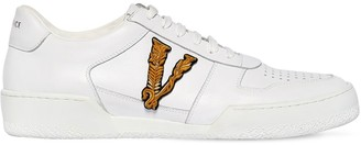 Versace Leather Low Top Sneakers