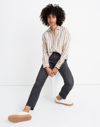Madewell Flannel Sunday Shirt in Claxton Stripe