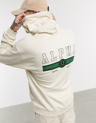 ASOS DESIGN oversized hoodie with alpha back print