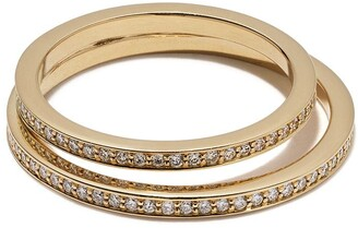 Georg Jensen 18kt yellow gold Halo brilliant cut diamond ring