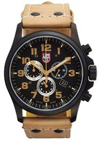 Luminox Men's 'Land - Atacama Field' Chronograph Leather Strap Watch, 45Mm