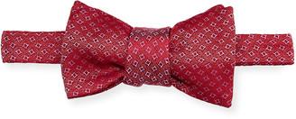 Charvet Men's Square Pattern Silk Bow Tie