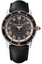 Cartier Ronde Croisière de Automatic 18K Pink Goldplated, Stainless Steel & Leather Strap Watch