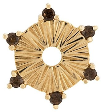 Foundrae 18kt yellow gold smokey topaz small Element disk