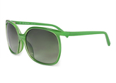 Calvin Klein Green Gradient Oversize Sunglasses - Women