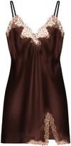 La Perla Macrame silk slip dress