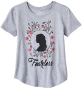 "Disney Disney's Beauty and the Beast ""Fearless"" Glitter Graphic Tee"