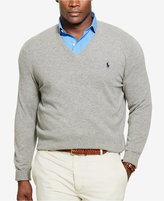 Polo Ralph Lauren Men's Big & Tall Merino Wool V-Neck Sweater