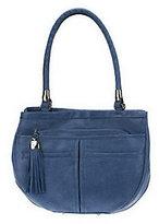 B. Makowsky Vintage Leather Multi-Pocket Shopper w/ Tassel Zipper