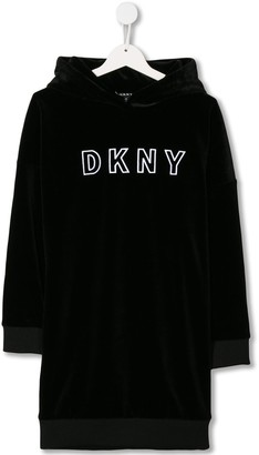 DKNY TEEN hooded sweater dress