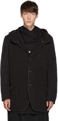 Yohji Yamamoto Black Hooded Jacket