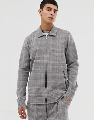 Jack and Jones Smart Worker Jacket In Grid Check-Grey