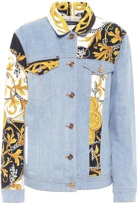 Versace Patchwork denim jacket
