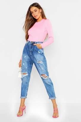boohoo Distressed Boyfriend Jeans