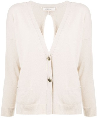 Dorothee Schumacher slit back V-neck cardigan