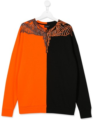 Marcelo Burlon County Of Milan Kids TEEN two-tone sweatshirt