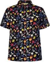 Yumi Scribble Floral Print Shirt