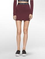 Calvin Klein Heathered Logo Band Mini Skirt