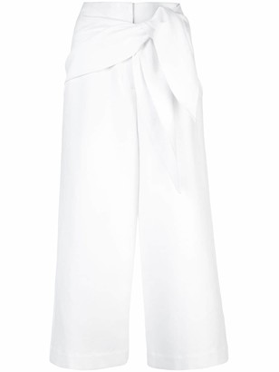 Tibi Compact Demi Cropped Trousers