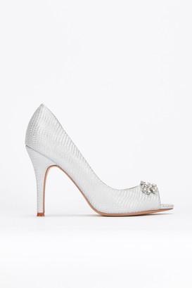 Wallis **Silver Peeptoe Court Shoe