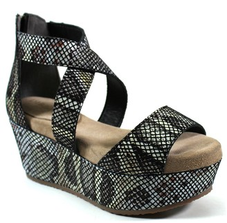 Diba True Platform Leather Sandals - Busta Move