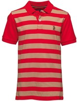 Luke 1977 Junior Luke Boys 9 Dream Printed Polo Marina Red/Lux Sand
