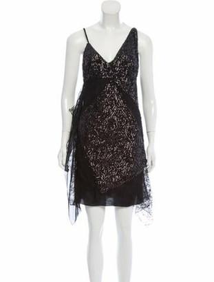 Lanvin 2019 Embellished Mini Dress w/ Tags Black