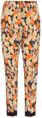 Dries Van Noten Printed silk trousers